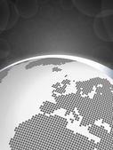 Earth concept Europe - Gray — Stock Vector