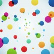 Stock Vector: Abstract colorful bubbles background