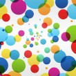 Постер, плакат: Abstract colorful bubbles background