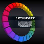 抽象彩虹的多维数据集 — 图库矢量图片