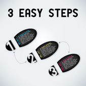 Three easy steps — Wektor stockowy
