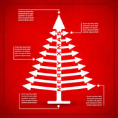 Simple arrow xmas tree — Stock Vector