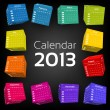 Royalty-Free Stock Vector Image: 3d cube calendar 2013