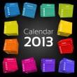 3d cube calendar 2013 — Stock Vector #13919661