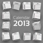 3d cube calendar 2013 — Stock Vector #13919679