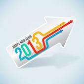 Heureuse nouvelle année 2013! — Vecteur