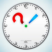 Punctuation marks on clock — Stock Vector