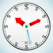 Time Is Money - Dollar — Stock Vector