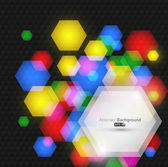 Abstract hexagon background — Stock Vector