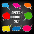Royalty-Free Stock Vector Image: Cartoon Speech Bubbles - Colorful inner colors with white outlin