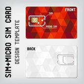 SIM+Micro SIM card template — Stock Vector