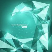 Abstract Spiral Background - Turquoise — Stock Photo