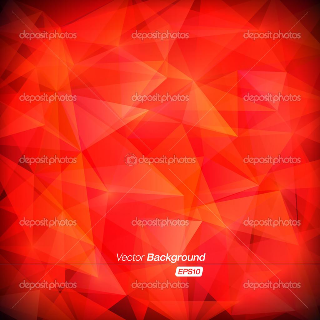抽象三角形背景-红色