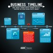 Stock Vector: Business timeline