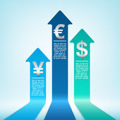 Increasing currency — Stock Vector