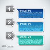 Three options — Stock Vector