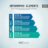 Detailed colorful infographic elements — Vettoriale Stock