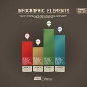 éléments détaillés infographie coloré — Vecteur