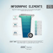 Detailed colorful infographic elements — Stock Vector