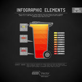 Detaillierte bunte infographik elemente — Stockvektor