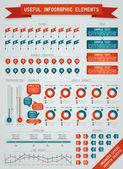Yararlı infographic elemanları — Stok Vektör