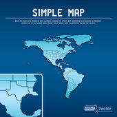 Abstract simple map — Stockvektor
