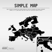 Abstract simple map — Stock Vector