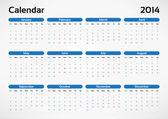 Vector calendar 2014 — Stock Vector