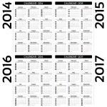 Calendar 2014, 2015, 20126, 2017 - EPS10 vector — Stock Vector #29468429