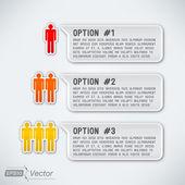 Tři možnosti s muži — Stock vektor