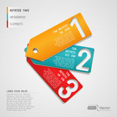 Three Infographic Tags — Stock Vector