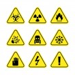 Stock Vector: Warning signs of danger