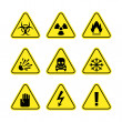 Warning signs of danger — Stock Vector