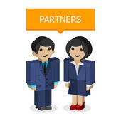 Businessmen partners — Stock Vector