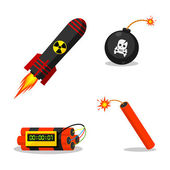 Explosive objects — Stock Vector