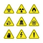 Znaki ostrzegawcze o niebezpieczeństwie — Wektor stockowy