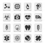 Rectangular medical icons — Stock Vector #35006415