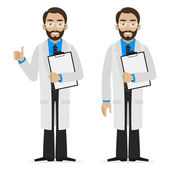 Scientist holds file — Stock Vector