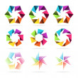Set of abstract signs — Stock Vector #37818211