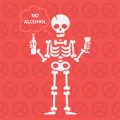 Concepto sobre tema sin alcohol — Vector de stock