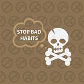 Concept on theme stop bad habits — Stock Vector