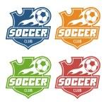 Soccer club emblem — Stock Vector