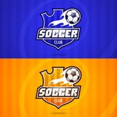 Background soccer club emblem — Stock Vector