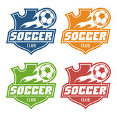 Soccer club emblem — Stock Vector