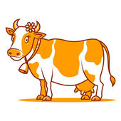 Good cow smiling — Stock Vector