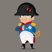 Napoleon Bonaparte cartoon character — Stock Vector