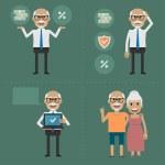 Постер, плакат: Older people pension fund concept