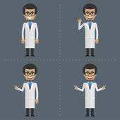 成人科学家表示在不同的姿势 — 图库矢量图片