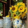 Sunflowers in vase — Stock Photo