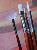 A set of artist paint brushes — Stock Photo